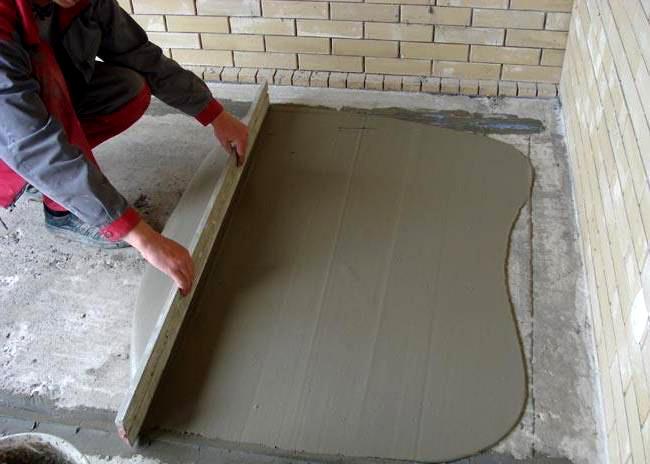 """Выполнение цементной стяжки """" строительно-информационный пор."""